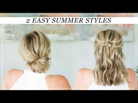 Two EASY Summer Hairstyles
