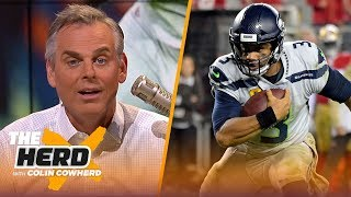 Download Colin is in awe of Russell Wilson's performance, isn't worried about Garoppolo | NFL | THE HERD Mp3 and Videos