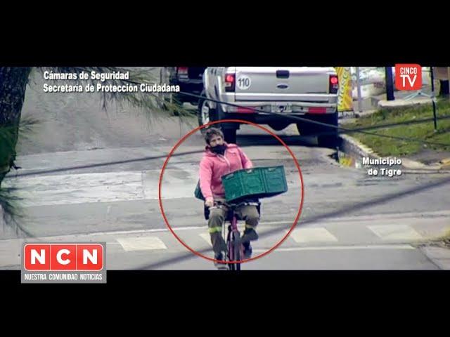 CINCO TV - Benavídez: las cámaras del COT localizaron a un ladrón en bicicleta