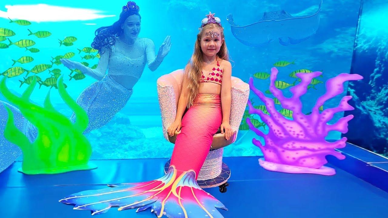 Download Diana and Roma visited Mermaids of Arabia in Dubai. Magical Mermaid & Pirate transformation!