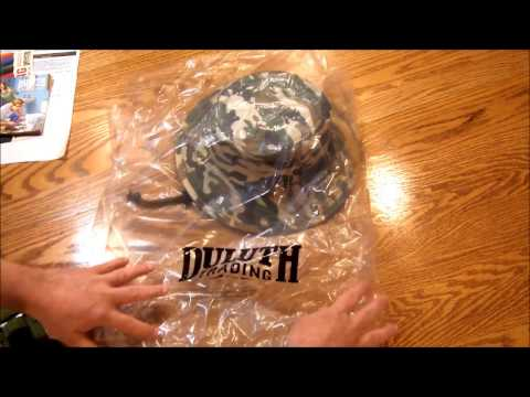 Unboxing ∙ Opening New Camouflage Boonie Hat From DULUTH TRADING COMPANY