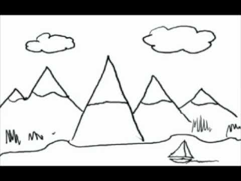 Drawing from letters. A how to draw lesson for kids. - YouTube