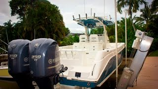Everglades 320CC with twin Yamaha 350's Review