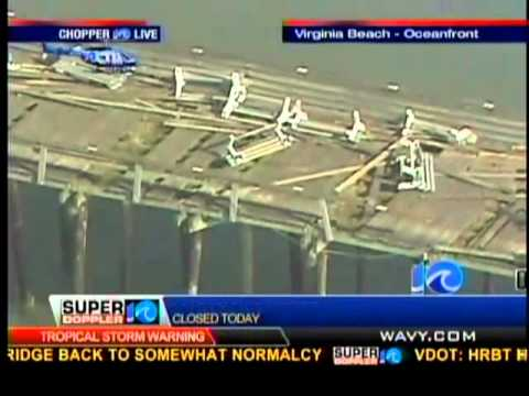 Virginia beach fishing pier damage youtube for Virginia out of state fishing license