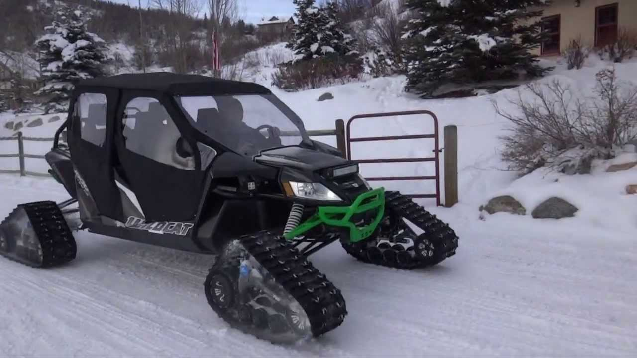 Arctic Cat Wildcat Turbo Camoplast Tracks Short Field Test