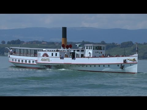 Paddle Steamers of Switzerland - PS Neuchatel - Lake  Neuchatel