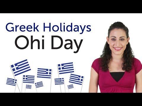 Learn Greek Holidays - Ohi Day - Επέτειος του «ΟΧΙ»
