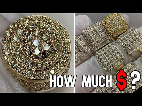HOW MUCH $ / HOW MANY KARATS FOR THOSE AMAZING GOLD DIAMOND RINGS ?