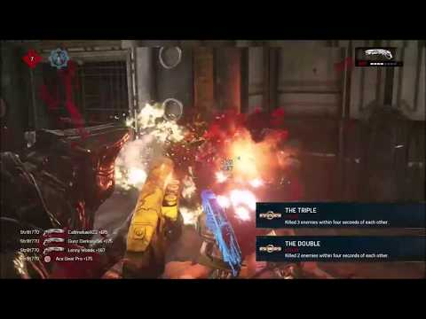 Gears of War 4 - Clips, Commentary & BEST FIRST ROUND EVER!
