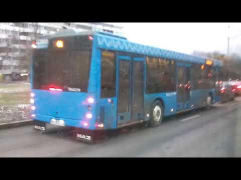Поездка на троллейбусе БКМ 321 №8592 по маршруту №52 Москва