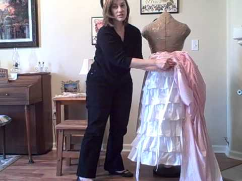 How To Make an 1870s Bustle Skirt - YouTube