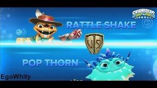 Rattle Shake vs Pop Thorn Skylanders Swap Force Duellkampf Wettkampfarena