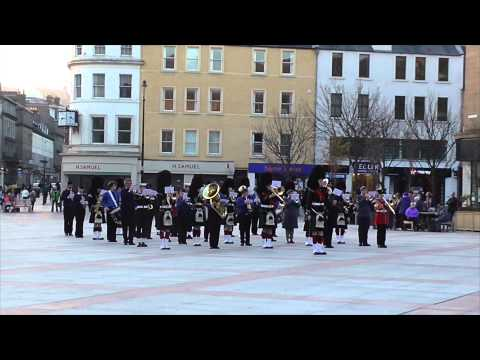 Cadet Tri-Service Bands- Beating The Retreat- Dundee City Square, Caird Hall