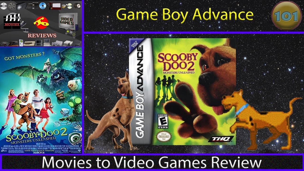 Movies To Video Games Review Scooby Doo 2 Monsters Unleashed Gba Youtube
