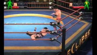 TNA IMPACT : AJ Styles vs Rhino [PS2]