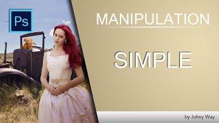Уроки Фотошопа | Коллаж Girl Manipulation 3