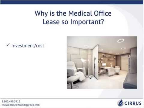 Webinar: Medical Office Lease Negotiation Strategies | Cirrus Consulting Group
