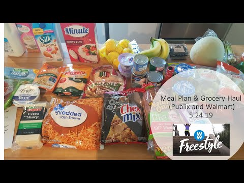 meal-plan-&-grocery-haul---publix-and-walmart-grocery-pickup-5.24.19-ww-freestyle