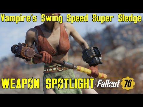 Fallout 76: Weapon Spotlights: Vampire's Swing Speed Super Sledge thumbnail