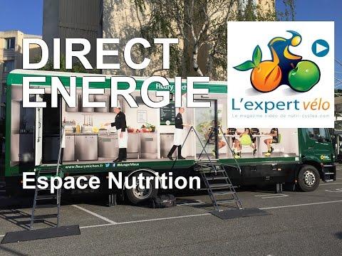 Image de la vidéo L'espace nutrition Fleury Michon du Team Direct Energie