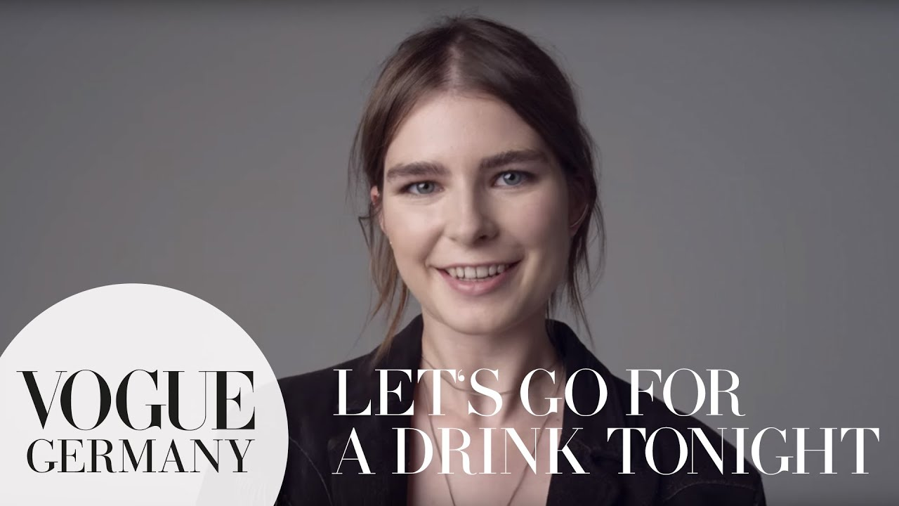 Let's go for a drink – A Message for you by Gaby Loader for VOGUE