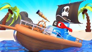 Пиратский грузовик спасает малышей! - Трансформер Карл в Автомобильный Город