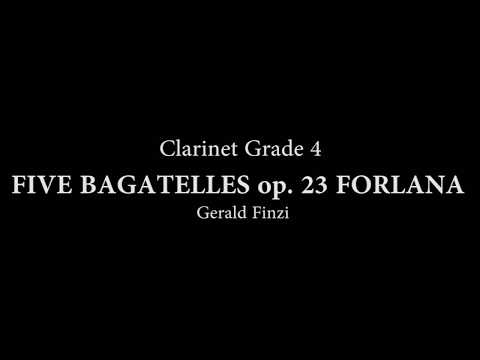 FIVE BAGATELLES op. 23 FORLANA for Clarinet and piano