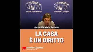 """Intervento in Plenari dell'europarlamentare Elisabetta Gualmini su """"Alloggio dignitoso e a prezzi abbordabili per tutti"""""""