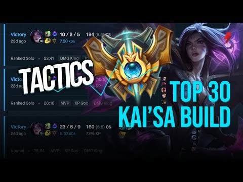 The Arcane Comet Kai'Sa build that made it to Challenger Top 30
