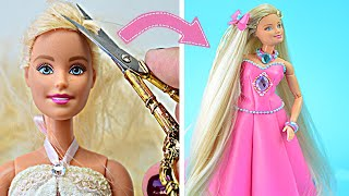 Amazing Barbie Hair Transformation / Clever Barbie Hacks And Crafts