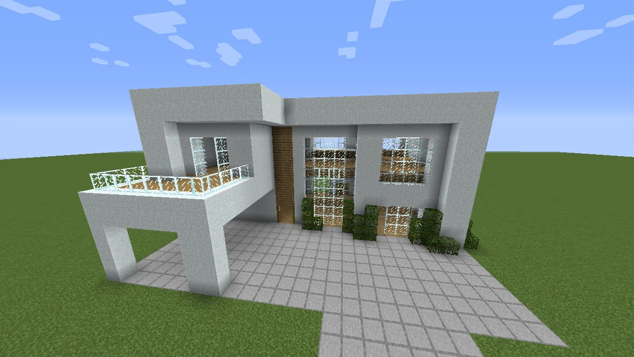 Minecraft como construir uma casa moderna youtube for Casas modernas para construir