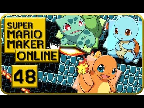 Let's Play Super Mario Maker Online Part 48: Glumanda, Schiggy, Bisasam, ich wähle euch!