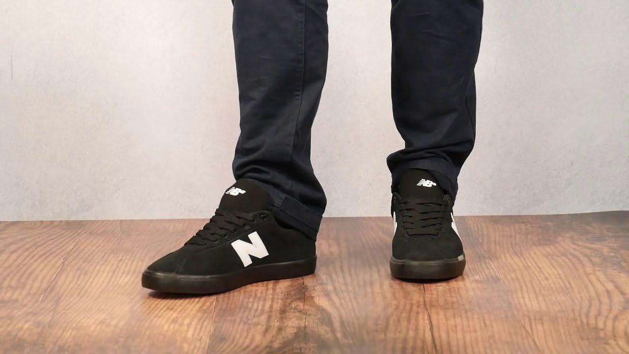 NEW BALANCE NM22 BLACK/WHITE On Feet