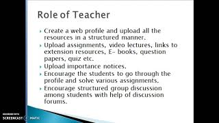 use of web profile(website) in teaching-learning