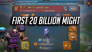 First 20 Billion Might & Zeroes - Lords Mobile
