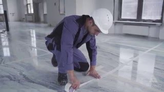 видео Укладка мрамора в ванную.