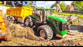 RC tractors, trucks and diggers in ACTION!