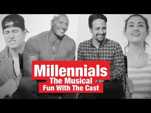 "Fun With The Rock, Lin-Manuel Miranda & The Cast of ""Millennials: The Musical""!"
