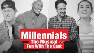 "Fun With The Rock, Lin-Manuel Miranda & The Cast of ""Millennials: The Musical""!"