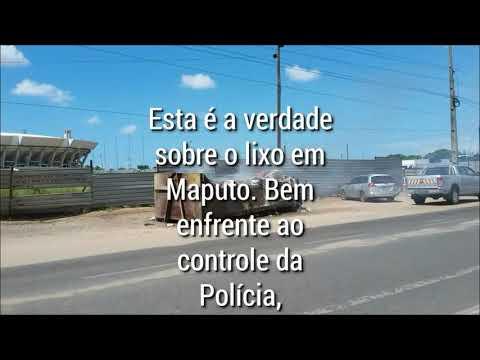 Situação da recolha de lixo em Maputo.  Contentor ardendo na rua