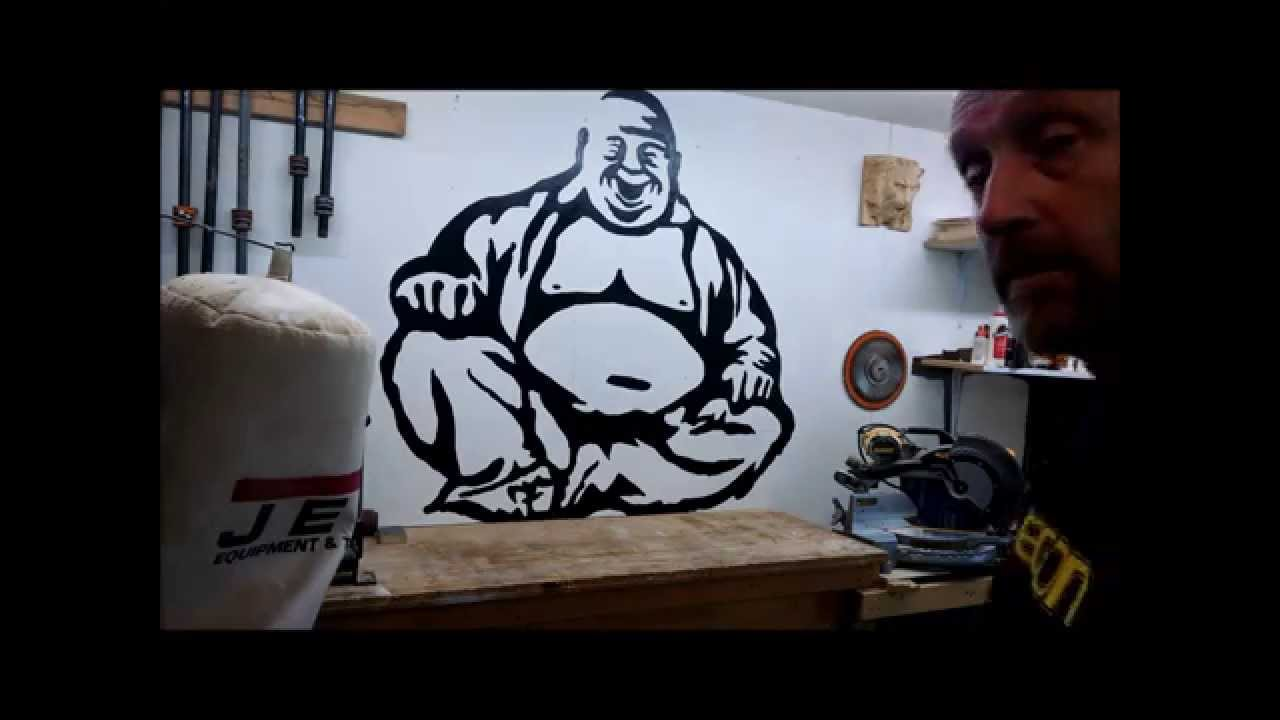 Using an Overhead Projector to Paint a Wall Graphic - YouTube