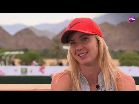 2018 Indian Wells Open Pre-Tournament Interview   Elina Svitolina