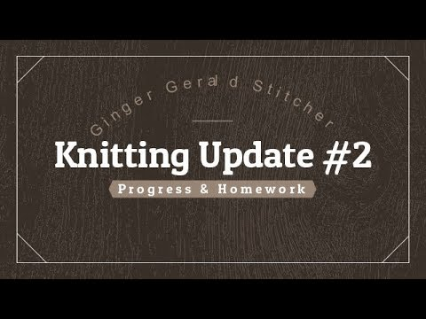 Knitting Update #2 Progress and Homework
