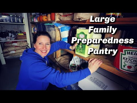 Preparedness Homestead Pantry Tour | Ideas for Storing Food for Emergencies