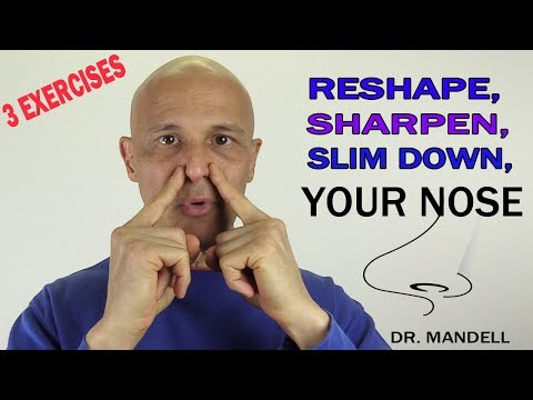 how to slim my nose at home