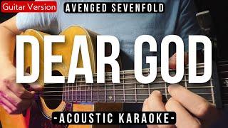 Dear God (Karaoke Acoustic) - Avenged Sevenfold (Slow Version | HQ Audio)