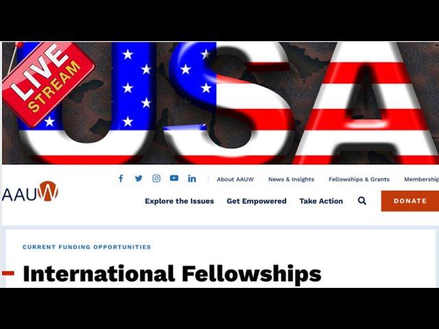 American Association of University Women International Fellowships in the USA for Women