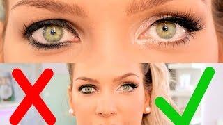 Wie schminke ich Augen bei SCHLUPFLIDERN ??