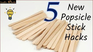 5 New Creative Popsicle Crafts Ideas I Ice Cream Stick hack I Creative Diaries