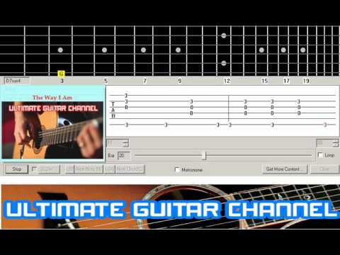 Guitar Solo Tab The Way I Am Ingrid Michaelson Youtube